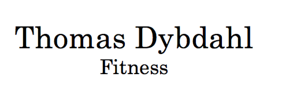 Thomas Dybdahl - Personlig Træning i Aarhus